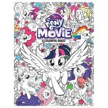 My Little Pony The Movie Coloring Book Paperback Robin Hoffman