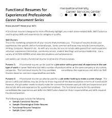 Chronological Resume Examples 2016 Of A Samples Functional The Resumes
