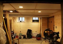 Inexpensive Basement Ceiling Ideas by Amazing Of Lighting Ideas For Basement