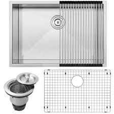 Overstock Stainless Steel Kitchen Sinks by Ticor 28 Inch Square Stainless Steel Undermount Kitchen Sink With