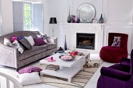 Beautiful Purple And Gray Living Room 32 For With
