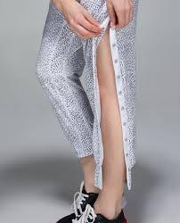 lululemon tearaway pant dottie dash white black white lulu
