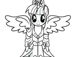 Princess Twilight Sparkle Coloring Page My Little Pony Rarity Party