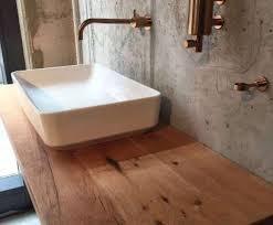 waschtisch unterschrank holz ungewöhnlich badezimmer