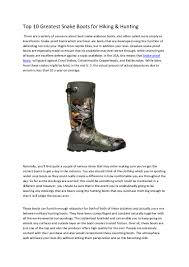 picking the right pair of snake proof hiking boots