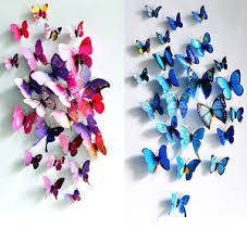 Image Is Loading DIY 3D Butterfly Wall Stickers Art Design Decal