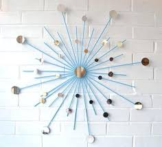Mid Century Modern Wall Art Designs Starburst Metal With