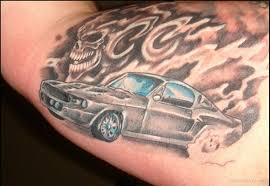 Awesome Car Tattoo On Bicep