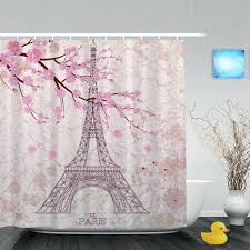 Cherry Blossom Curtain Blue by Shower Curtains Oriental Shower Curtain Ideas Oriental Fabric