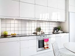 Kitchen Stunning White Small Galley With Square Tile Backsplash Including Counter Table And Kit