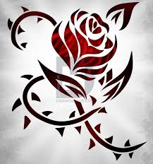 How To Draw A Tribal Rose Tattoo
