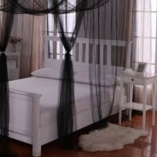 Black Canopy Bed Drapes by Palace 4 Post Bed Sheer Panel Canopy Walmart Com