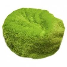 Fuzzy Fur Bean Bag Chair Size 90 Color Lime Green