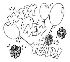 Free Printable New Years Coloring Pages For Kids Happy 2017