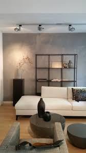 wand betonoptik modern wohnzimmer münchen beton