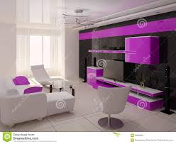ursprüngliches wohnzimmer high tech stock abbildung