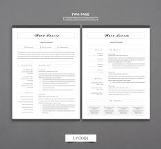 100 Resume Two Pages Minimal Resume 3 Pages CV Template For Word Page