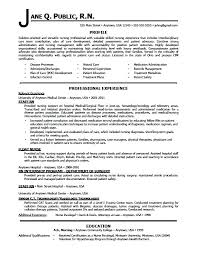 Resume Examples For Registered Nurse Example Staff Sample Newly