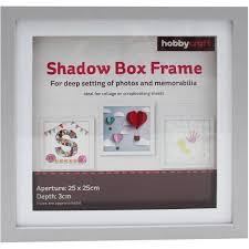Grey Shadow Box Frame 25cm X 25cm