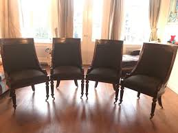 A Set Of Four Empire Style Dining Room Chairs Louis Moret Belgium Late