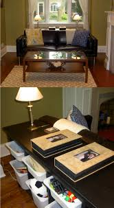 Lack Sofa Table As Desk by Toy Storage Hidden Behind Sofa Using The Ikea Hemnes Sofa Table