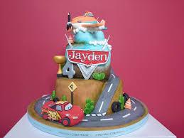 3 Tier Car & Plane Theme 3D Cake C33CAR001 — Amanda s Cake House