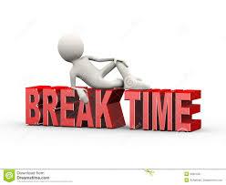 Download 3d Man Lying On Word Break Time Stock Illustration