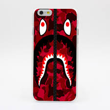 1486U Tumblr Bape Red Hooded Sweatshirt Hard Case Cover for iPhone