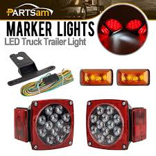 Amazon.com: Partsam LED Light Kit Trailer Truck Tail Turn Stop Boat ... Truck Trailer Lights Archives Unibond Lighting 2pc Amber Running Board Led Light Kit With Courtesy Bright 240 Vehicle Car Roof Top Flash Strobe Lamp Snowdiggercom The Garage Harbor Freight Offroad Lorange Ambother 2x 20led Tail Turn Signal Led 2 Inch Round 42008 F150 Recon Smoked 264178bk Christmas On Ford Pickup Youtube In Lights Festival Of Holiday Parade Salem Or Stock Video Up Dtown Campbell River Truxedo Blight System For Beds Hardwired For Lumen Trbpodblk 8pod Bed