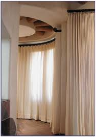 Arched Or Curved Window Curtain Rod Canada by Curved Window Curtain Rod Home Design Ideas And Pictures