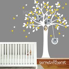sticker mural chambre bébé arbre et koalas sticker mural stickers chambre denfant