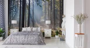 muralo fototapete wald 520 b x 318 h cm vlies tapete wandtapeten nebel bäume pflanzen sonne wohnzimmer schlafzimmer moderne wandbilder