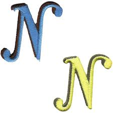 Jennie Maizels Letter N IronOn Patch Assortment Hobbycraft