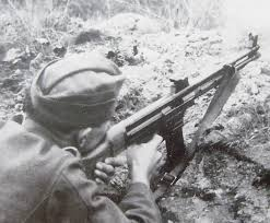 Germanys Most Decorated Soldier Ever by German Soldier Firing The Mkb 42 H Machine Carbine Precursor Of