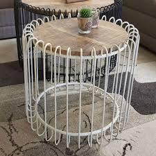 couchtisch rund ø 70 cm wohnzimmer tisch beistelltisch york metall gestell schwarz matt o reinweiss