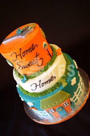 Housewarming Party KAKE All Three Cakes Iced In Buttercream Marshmallow Fondant House And Key