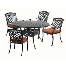 ComfortCare 5-Piece Metal Outdoor Dining Set With 52