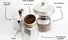 Moka Pot With Parts