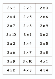cartes tables de multiplication 2 3 4 5 crapouilleries