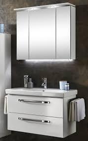 marlin bad 3060 badmöbel set 85 cm breit spiegelschrank mit oberboden inkl led beleuchtung