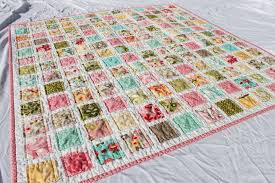 Vintage Baby Quilt Pattern with Hunky Dory Fabric by Moda