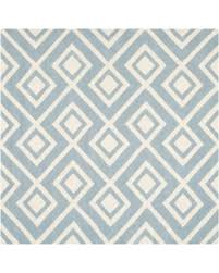 Geometric Area Rug Safavieh Cht742 7sq Chatham 7 Square Wool Hand Tufted Blue