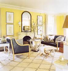 fancy yellow living room with light yellow wall paint combine