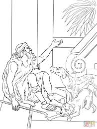 Click The Lazarus And Rich Man Coloring Pages
