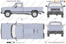 100 1985 Dodge Truck Ram 250 Vector Drawing