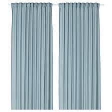 vivan curtains 1 pair light blue 145x250 cm ikea