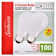 bulk sunbeam a 19 100 watt service frosted light bulbs at
