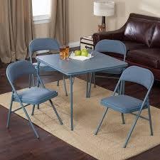 Meco Sudden Comfort Deluxe Double Padded Chair And Back- 5 Piece Card Table  Set - Cadet Blue - Walmart.com 7 Best Folding Card Tables 2017 Chair Long Table And Padded Chairs Cosco 5 Piece Set 5pc Xl Series And Ultra Thick Black White Plastic Large Black Card Table Sim Smatch Wikipedia 1950s Four Kids Colorful Vintage Metal Of 2 Brown Creme Vinyl Retro Mid Century Extra Seating Kitchen Ding Fniture Charming Pretty Wood