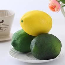 12PCS Decorative Large Lemons Fake Artificial Lemon Fruit Model House Kitchen Party Table Decoration Home Decor
