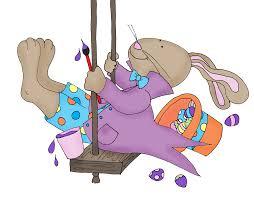 Free Dearie Dolls Digi Stamps Easter Bunny Swing